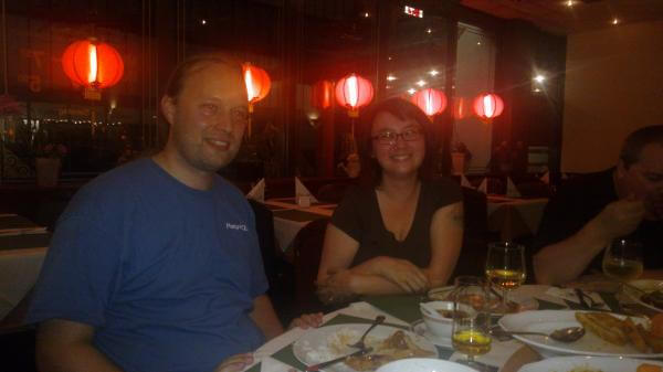 Selena Denckelmann and yours truly at a Chinese restaurant in Sankt Augustin, Germany