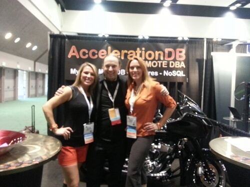 AccelerationDB booth babes and me